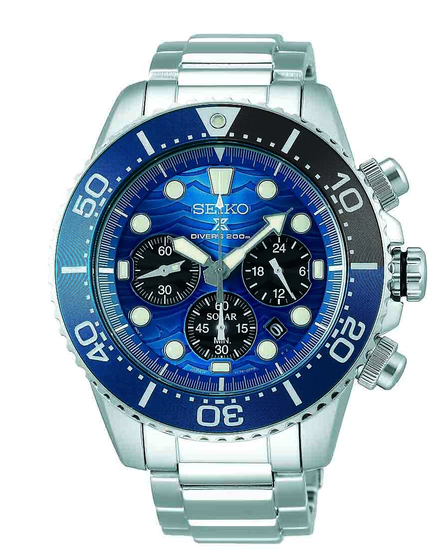 Seiko SSC741P1 Prospex Save the Ocean Solar Chronograph Horloge